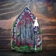 Skull Candle Fairy Door